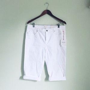 Rafaella white denim bermuda shorts size 12